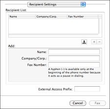 How To Fax From Mac Sending Faxes Using The Fax Utility Mac Os X