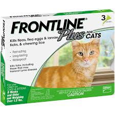 Frontline Plus For Cats And Kittens 1 5 Pounds And Over Flea And Tick Treatment 3 Doses
