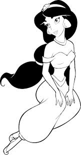 printable coloring pages disney aladdin princess jasmine cartoon in