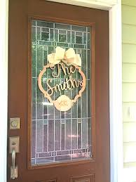 front door monogramBordered Initial with Name  Wood Monogram  Initial Decor