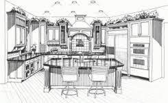 interior design sketches kitchen. Kitchen Design Sketch A Day 416 Interior Sketches 4
