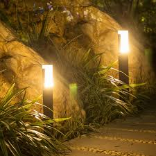 Landscape Pillar Lighting Us 32 79 30 Off Thrisdar Acrylic Waterproof Led Garden Lawn Lamp Outdoor Led Landscape Pathway Pillar Light Courtyard Villa Lawn Bollard Light In