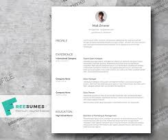 Spick And Span A Clean Resume Template Freebie Freesumes