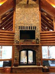how to build a indoor fireplace indoor outdoor see through wood burning fireplaces on stacked stone
