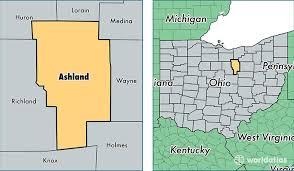 ashland county, ohio map of ashland county, oh where is Ashland Map location of ashland county on a map ashland maplewood