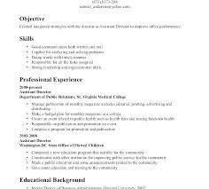 Resume Writing Objective Examples Example On Job – Stanmartin