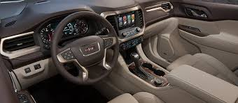 2018 gmc pics. wonderful 2018 image of the front cabin in 2018 gmc acadia denali midsize luxury suv in gmc pics