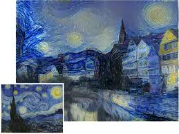 the starry night by vincent van gogh 1889 and a photo of