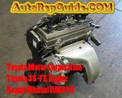 Toyota 3S-FE Engine Repair manual RM395 for repair, maintenance and ...