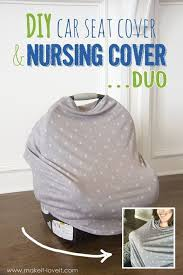 diy stretchy car seat cover and
