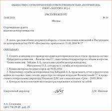 Организация проверки ведения делопроизводства в структурных  Распоряжение о разовом проведении аудита