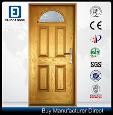 double leaf small oval tempered glass hand craftsmanship insulated energy saving front exterior fiberglass entry door