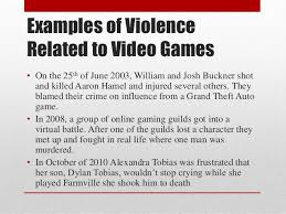 do video games cause violence  5 examples of violence related to video games
