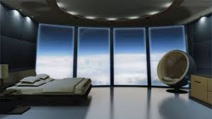 sci fi room futuristic bedroom