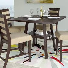 36 square dining table. CorLiving Bistro Cappuccino 36 In. Counter Height Square Dining Table 6