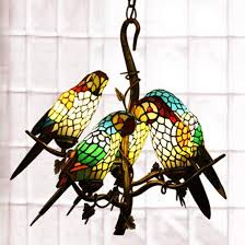 makernier art nouveau parrot 5 arm chandelier from the arts crafts era lit