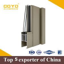 polishing extruded aluminium glass door frame profiles