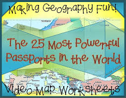 Fun Geography Activities: Geography Video Worksheets: Passports ...