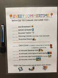 Summertime Checklist Earn Electronic Time Summer