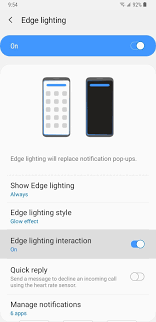 Samsung Music Edge Lighting S7 Edge Samsung Android Pie Update Galaxy Devices Are Getting
