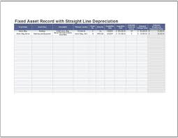 depreciation of fixed asset fixed asset record with straight line depreciation clickstarters