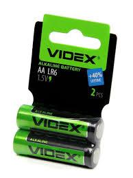 Элементы питания LR6/<b>AA</b> 2pcs SHRINK CARD <b>Videx</b> 8949612 в ...