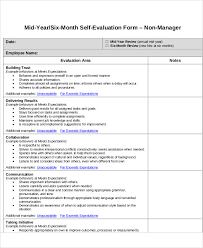 employee notes template 7 employee self assessment samples examples in word pdf