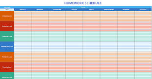 homework planner template pdf free weekly schedule templates for excel smartsheet