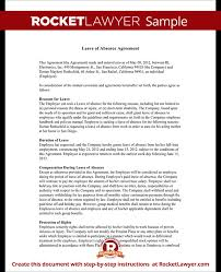 Sample Leave of Absence Form Template