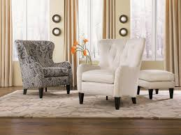 Living Room Chairs With Ottoman Tufted Wing Back Chair With Ottoman By Smith Brothers Wolf And
