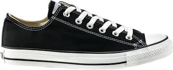 converse shoes black and white. chuck taylor all star classic colors low solid canvas adult lifestyle shoe ( black/white) converse shoes black and white l