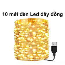 ⭐10m Dây đèn led trang trí Dây Đèn led dây đồng sử dụng cổng USB 5v không  chớp nháy Led Fairy Light/ Đèn led đom đóm dùng trang trí phòng ngủ nhà
