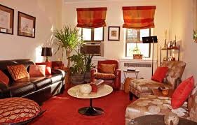 Red Chairs For Living Room Brown And Red Living Room Ideas With Brown Leather Sofa Home