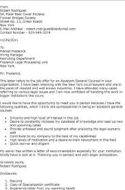 Cover Letter Sample General Counsel Adriangatton Com