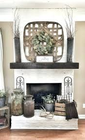 painted white brick fireplace ideas dated brick fireplace gets painted