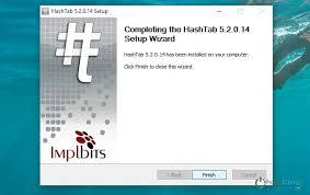 Контрольная сумма файла hashtab Контрольная сумма файла Запускаем скачанный файл и производим установку программы установку программы hashtab