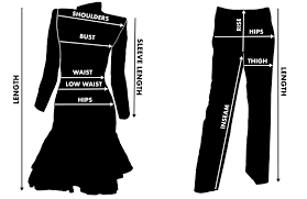 By The Way Clothing Size Chart Vintage Clothing Measuring Fit Guide Modig