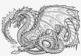 Realistic Dragon Coloring Pages For Adults Adult Colouring Pages