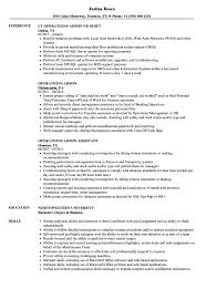 Operations Admin Resume Samples Velvet Jobs