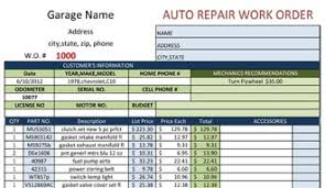 service work orders template auto repair work order template