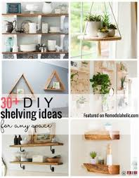 add some extra storage with wall shelves try one of our featured 30 diy