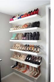 simple ikea shelves for shoe