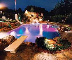 inground pools with waterfalls and slides. Pool Designs With Slides And Waterfalls Inground Pools