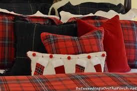 plaid bedding