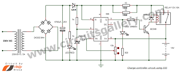 12v battery charger circuit auto cut off circuits gallery automatic battery charge controller circuit using 555 timer