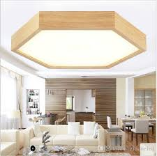 2018 modern minimalist wood led ceiling lights hexagon flush mount ceiling lights recessed lighting fixtures led indoor lamp fixtures from zidoneled