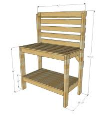 Easy Table Plans Ana White Ryobination Potting Bench Diy Projects