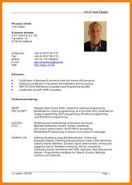 Curriculum Vitae Format Doc German Cv Template Doc Sample Resume