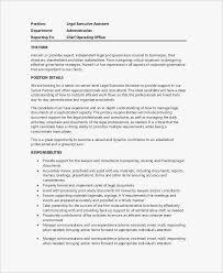 47 Unique Of Legal Secretary Job Duties Resume Collection