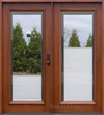 interesting double patio doors with shades between the glass throughout double front doors with glass